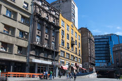 Old quarter of Belgrade with a traffic tunnel Royalty Free Stock Images