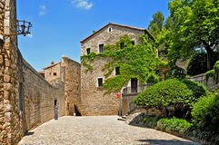 Old quarter of Girona, Spain Stock Photography