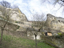 Old Quarters and Fortifications in Luxembourg Royalty Free Stock Photo