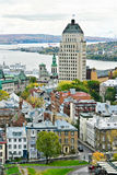 Old Quebec 11. Historic Old Quebec viewed from high vantage point Royalty Free Stock Photos