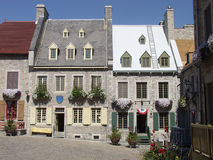 Old Quebec. Traditional stone houses in the heart of Old Quebec City, Quebec, Canada royalty free stock photo