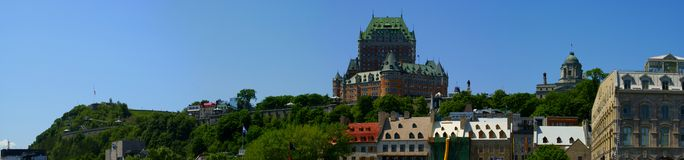 Old Quebec. And Chateau Frontenac Royalty Free Stock Photo