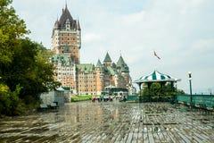 Old Quebec Boardwalk Stock Images