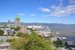 Quebec City skyline, Quebec, Canada Stock Image
