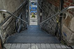 Stairway in Old Quebec stock photos