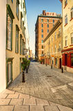 Old Quebec street Royalty Free Stock Images