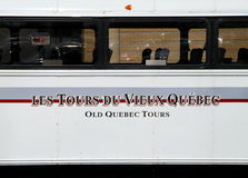 Old Quebec Tour Bus Royalty Free Stock Photos