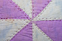 Old Quilt Pattern Fabric Royalty Free Stock Photography