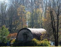 Old quonset hut in Maggie Valley, NC Royalty Free Stock Photos