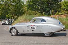 Old racing car BMW 328 Berlinetta Touring (1939) Royalty Free Stock Photos