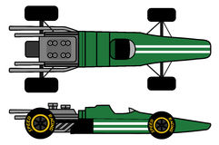 Old racing car. Creative design of old racing car Royalty Free Stock Photo