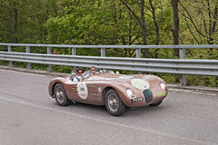 Old racing car Jaguar C-Type Stock Photography