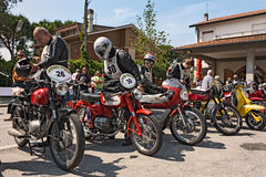 Old racing motorcycles Royalty Free Stock Photos