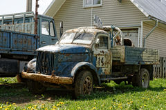 Old racing truck. Stock Photo