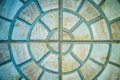 Old radial mosaic tiles Royalty Free Stock Photo