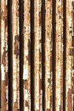 Old radiator with cracked white paint and rust Royalty Free Stock Photos