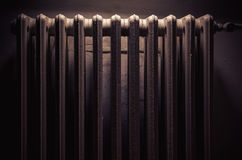Old Radiator in an Old Room Royalty Free Stock Photos