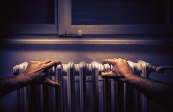 Old Radiator in an Old Room Stock Image
