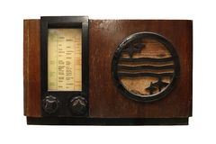 Old radio_1 Stock Image