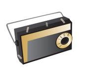 Old radio. Old fashioned style FM radio Stock Photo