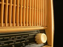 Old radio. Very old radio royalty free stock photography