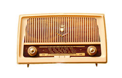 Old radio. The old fashioned radio receiver Royalty Free Stock Photo