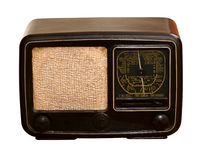 Old radio. The old fashioned radio receiver Stock Images