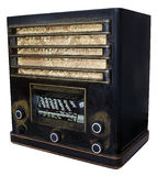 The old radio. Clipping path of retro radio royalty free stock photography