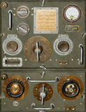 Old radio. A front view to an old army radio station Stock Images