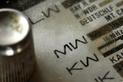 Old radio. Closeup of an old radio german language Stock Photo
