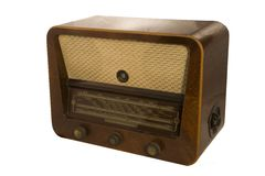 Old radio. An old radio with a magic eye Stock Images
