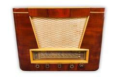 Old radio. Isolated on white background Stock Images
