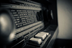 Old radio. Dusty old radio in my grandfathers house Royalty Free Stock Photography