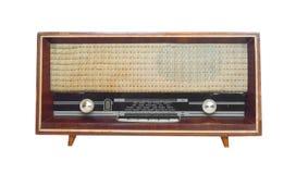 Old radio. Isolated on white Royalty Free Stock Image