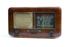 Old radio. Photo old radio on white background Stock Photo