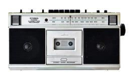Old radio. Vintage radio isolated on white Royalty Free Stock Photos