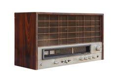 Old radio. Isolated on white background Royalty Free Stock Image
