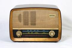 Old radio. Retro radio isolated on white background Royalty Free Stock Images