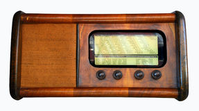 Old radio. Vintage - Old italian radio, isolated Stock Image