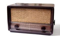 Old radio. Vintage shortwave and am radio isolated on white royalty free stock images