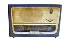 Old radio ancient stock photo