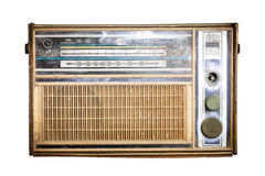Old radio, Antique brown radio Stock Photography