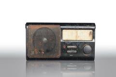 Old radio. Radio-old black on a white background Stock Image