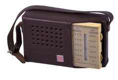 Old radio in a case Stock Images