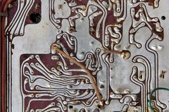 Old radio circuit board Royalty Free Stock Image