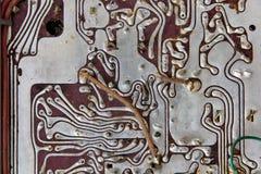 Old radio circuit board Royalty Free Stock Image