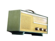 Old radio, clipping path Stock Photo