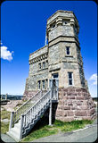 The old radio communications building tower on Signal Hill. Stock Photography