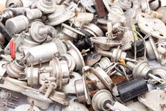 Old radio components Royalty Free Stock Photo