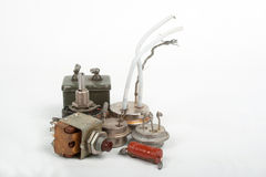 Old radio components Stock Photos